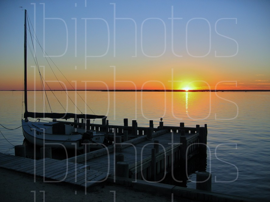 Harvey Cedars Dock at Sunset (Color)