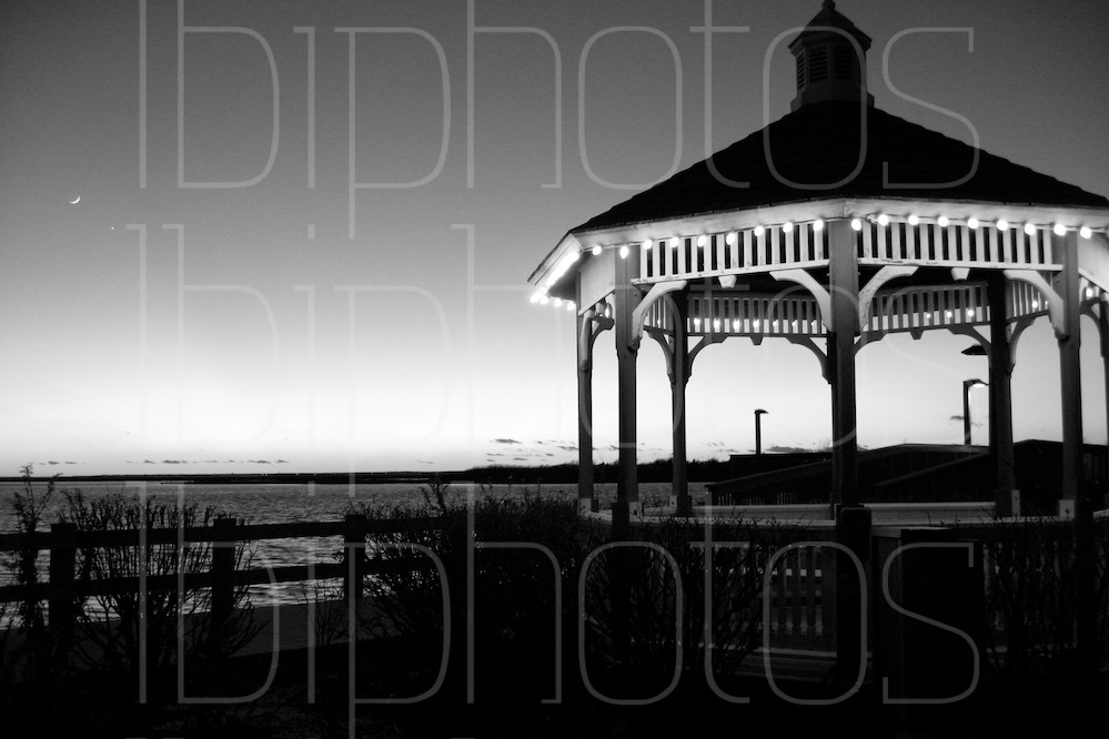 Gazebo at Sunset (BW)