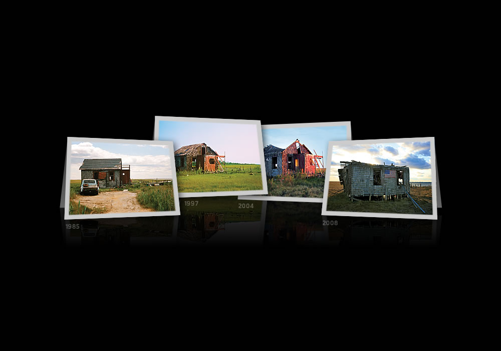 Shack 1985, 1997, 2004 & 2010 Notecards