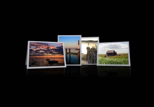 Causeway Sunset, Lighthouse Dock, Silver Bikes II, & Shack Variety Notecards