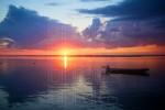 Bay Motorboat Sunset 04 (Color)