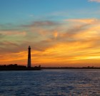 Lighthouse Orange Sky 01